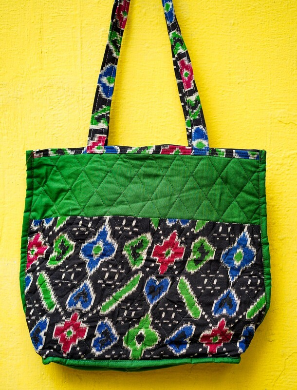 Geometric Print Bag