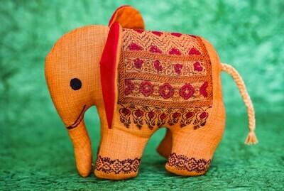 Orange Elephant Toy