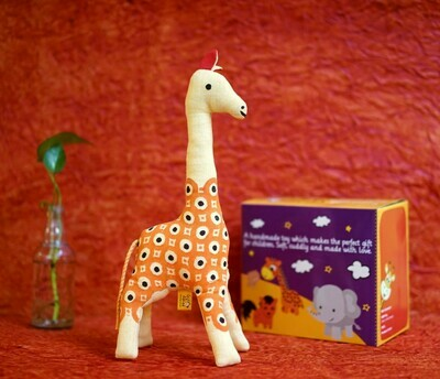 Cute Giraffe Toy Orange