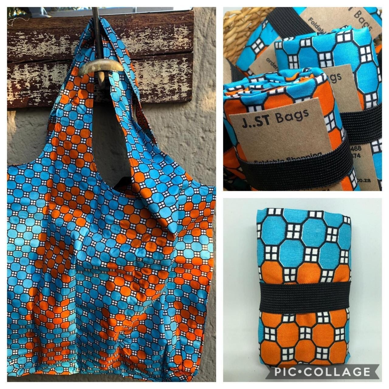 JST Bag Turquoise & Orange