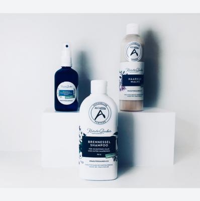 Set - Brennnessel Shampoo - Haarkur Malve  - Pflege & Feuchtigkeits Spray