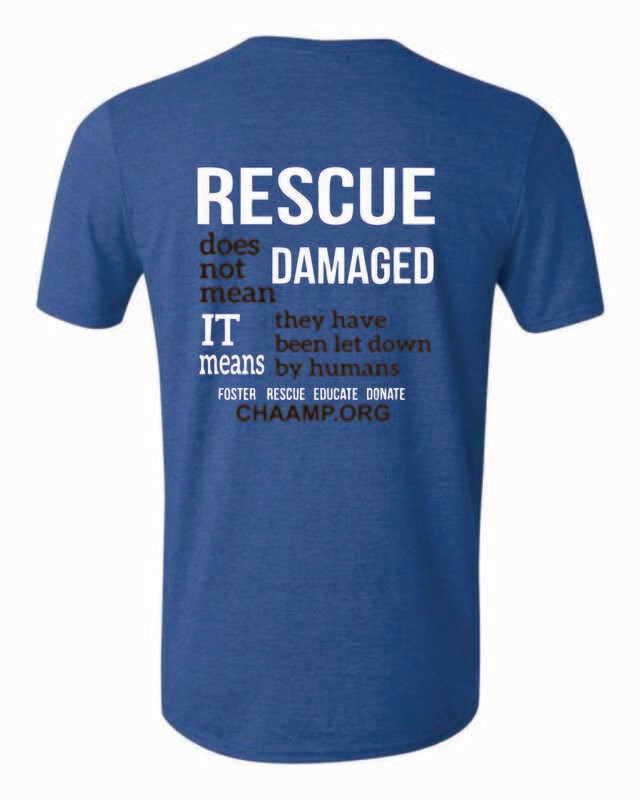 $25 Donation and CHAAMP Logo T-Shirt - 3 Colors