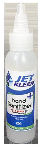 2 oz (59 mL), Gel Hand Sanitizer (CASE OF 24 BOTTLES)
