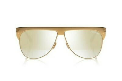 TOM FORD WINTER GOLD PLATED SUNGLASSES FT0707