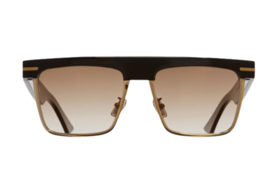 CUTLER AND GROSS 1359-01 BLACK TAXI & GOLD SUNGLASSES