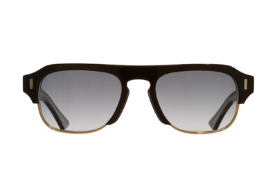 CUTLER AND GROSS 1353-01 BLACK TAXI & GOLD SUNGLASSES