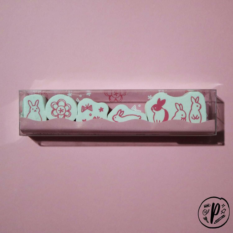 Kodomo no Kao Rabbit Stamp Set