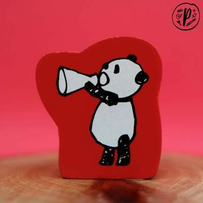 Kodomo no Kao Stamp: Panda Shout