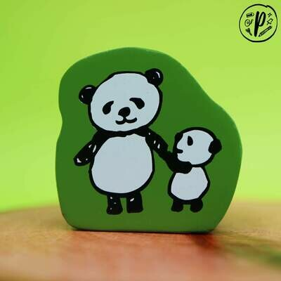 Kodomo no Kao Stamps: Panda Pair