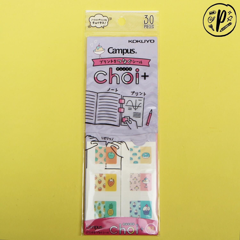 Kokuyo Campus Choi + Stickers (Food Design)