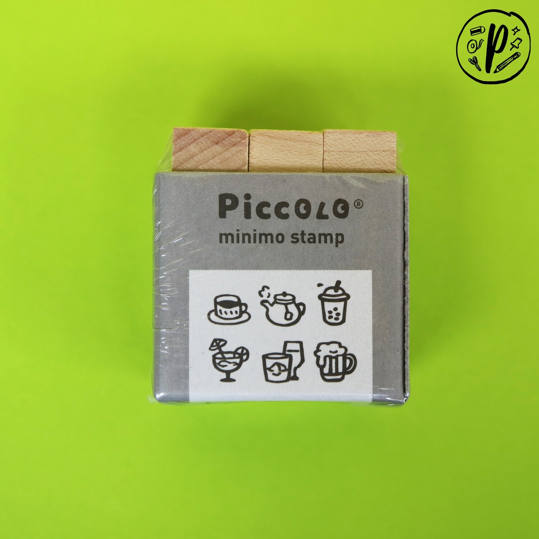 Plain Stationery Piccolo Minimo Stamp (Drinks Design)