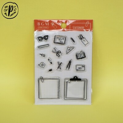 BGM Stationery Clear Stamp Set
