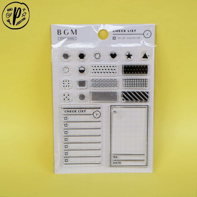 BGM Checklist Clear Stamp Set