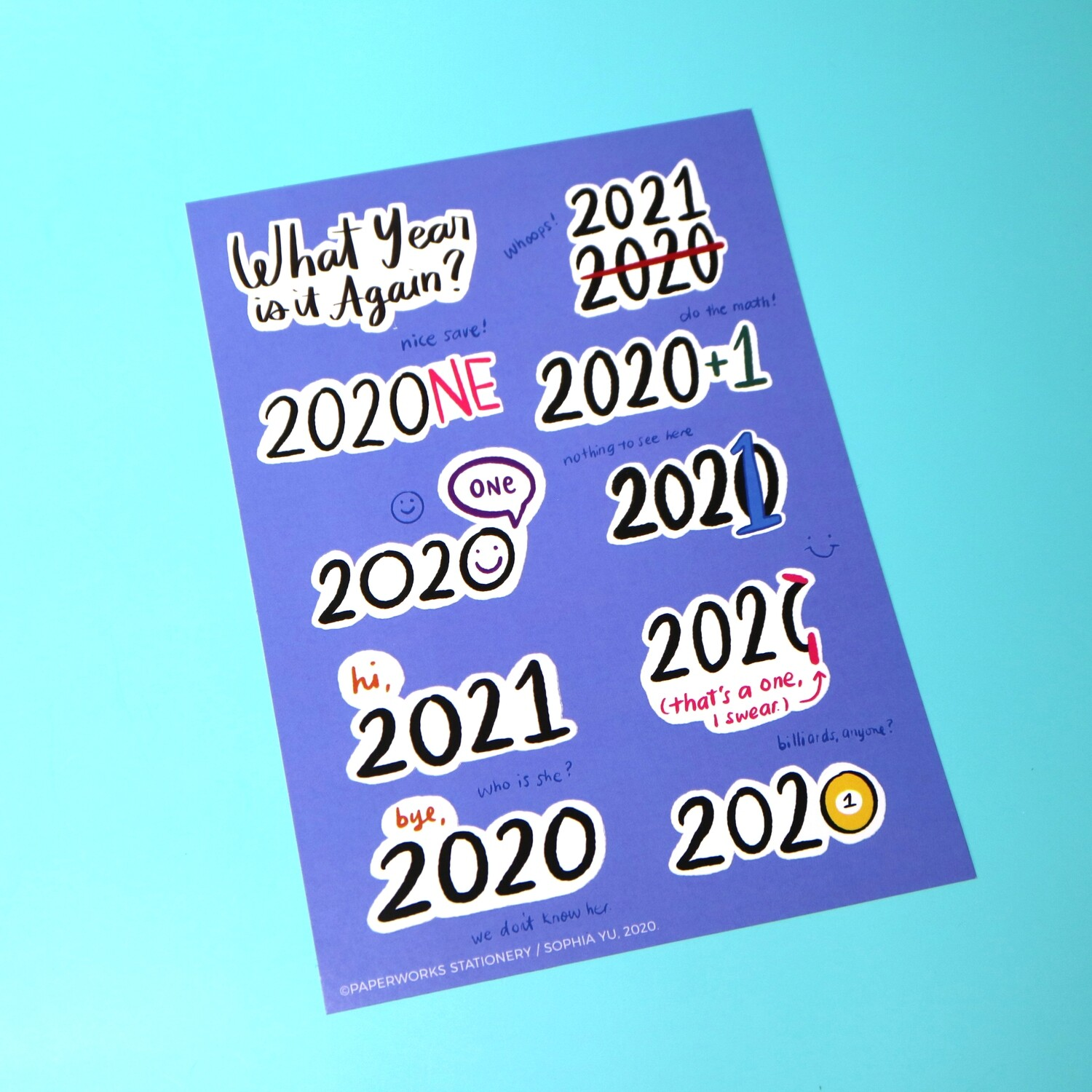 What Year Is It Again? (202-What?) Sticker Sheet