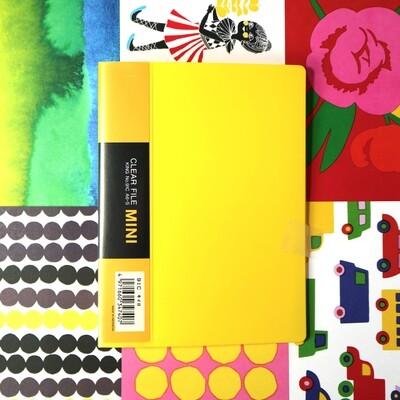 Postcard-Sized Mini Clear File (Yellow)