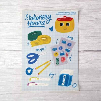 Stationery Hoard Sticker Sheet