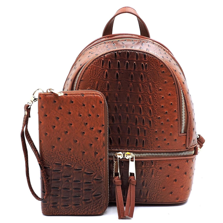 Croc Backpack And Wallet Set