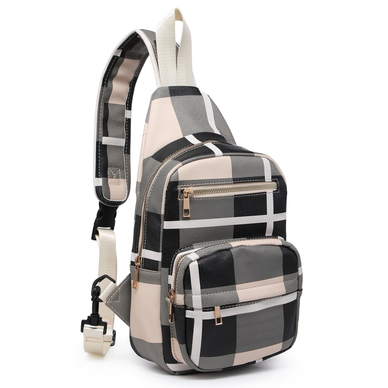 Plaid Sling Backpack