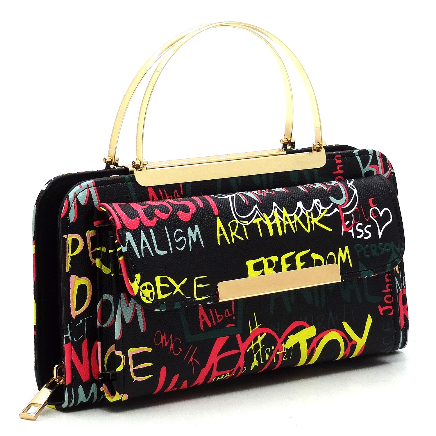 Graffiti Crossbody Purse