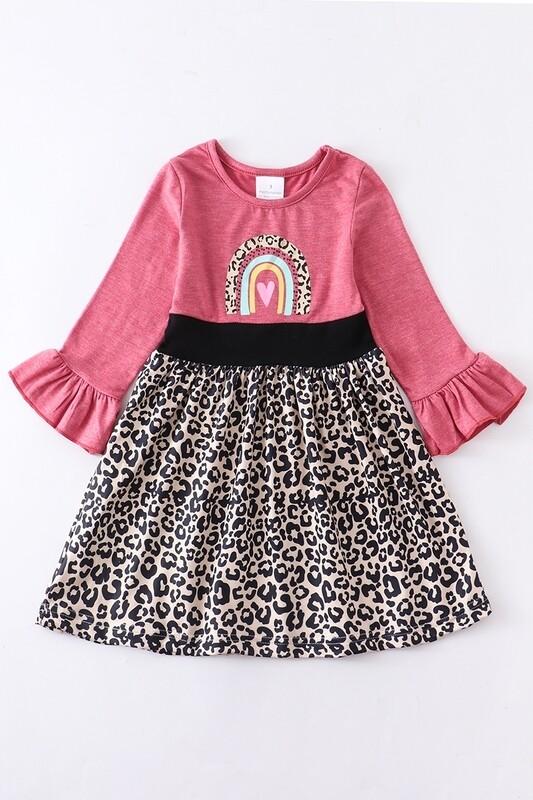 Rainbow Leopard Dress