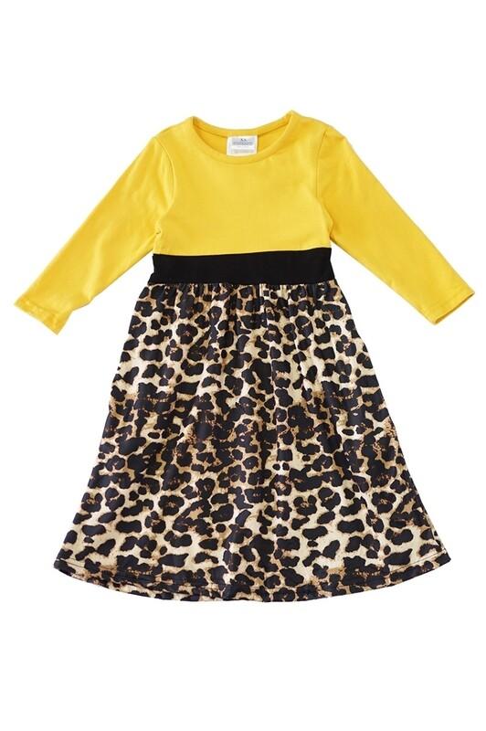 Mustard Leopard Maxi Dress