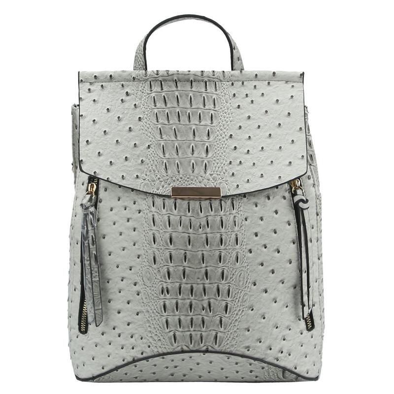 Ostrich Croc Convertible Backpack
