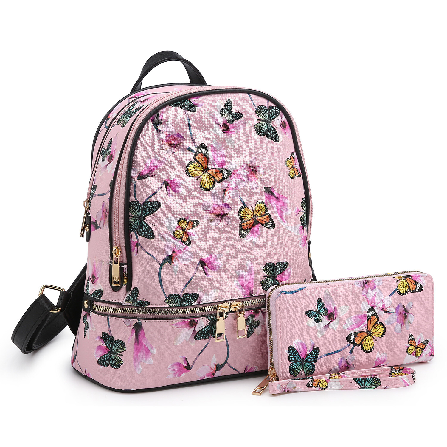 Butterfly Backpack With Wallet