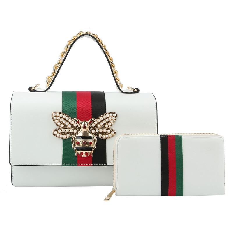 Queen Bee Boxy Handbag And Wallet