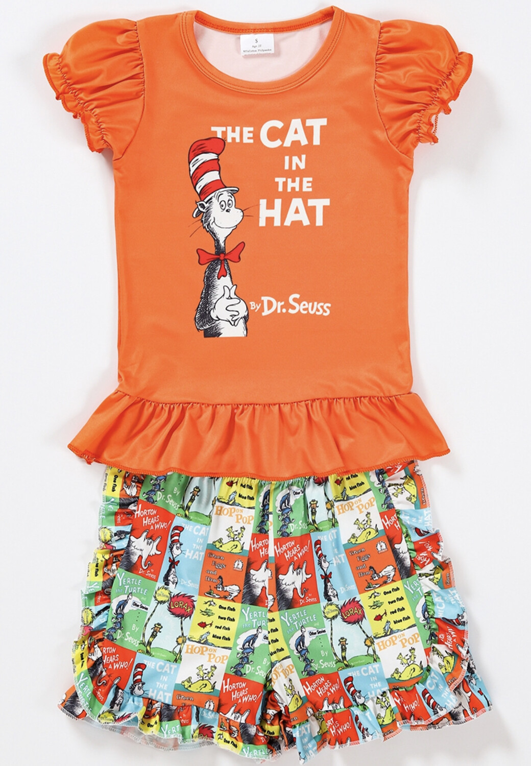 Cat In The Hat Shorts Set