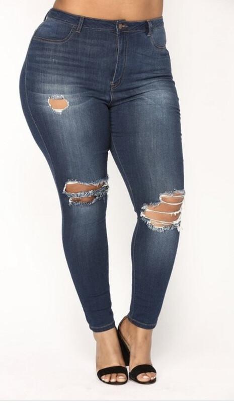 Dark Denim Jeans (Plus Size)