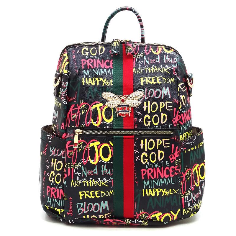 Graffiti Queen Bee Backpack