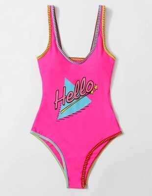 Hello Pink Swimsuit