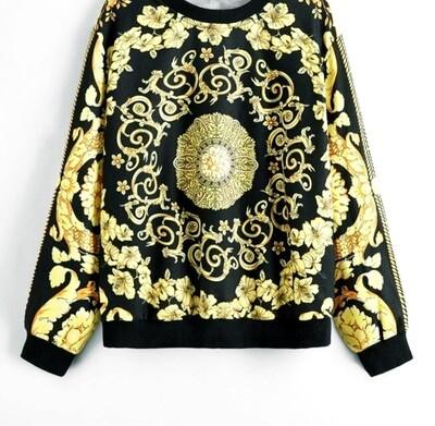 Lux Print Sweater