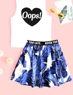Tropical Skirt set