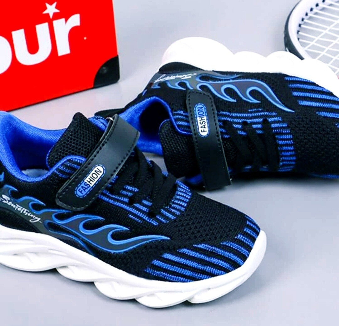 Blue Flames Shoes