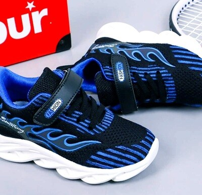 Blue Flames Shoes