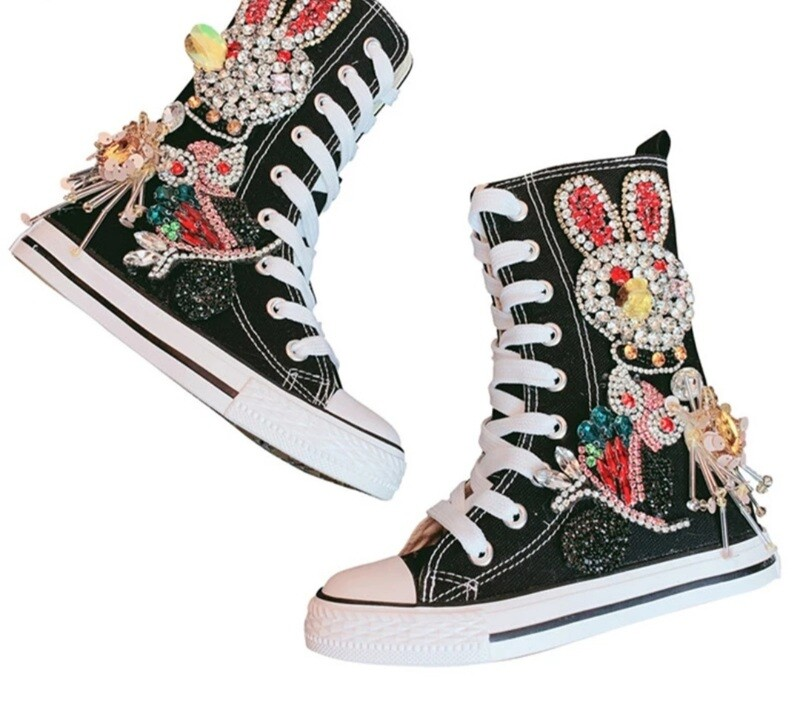 Rhinestone High Shoes