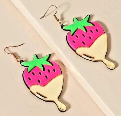 Strawberry Drop earrings