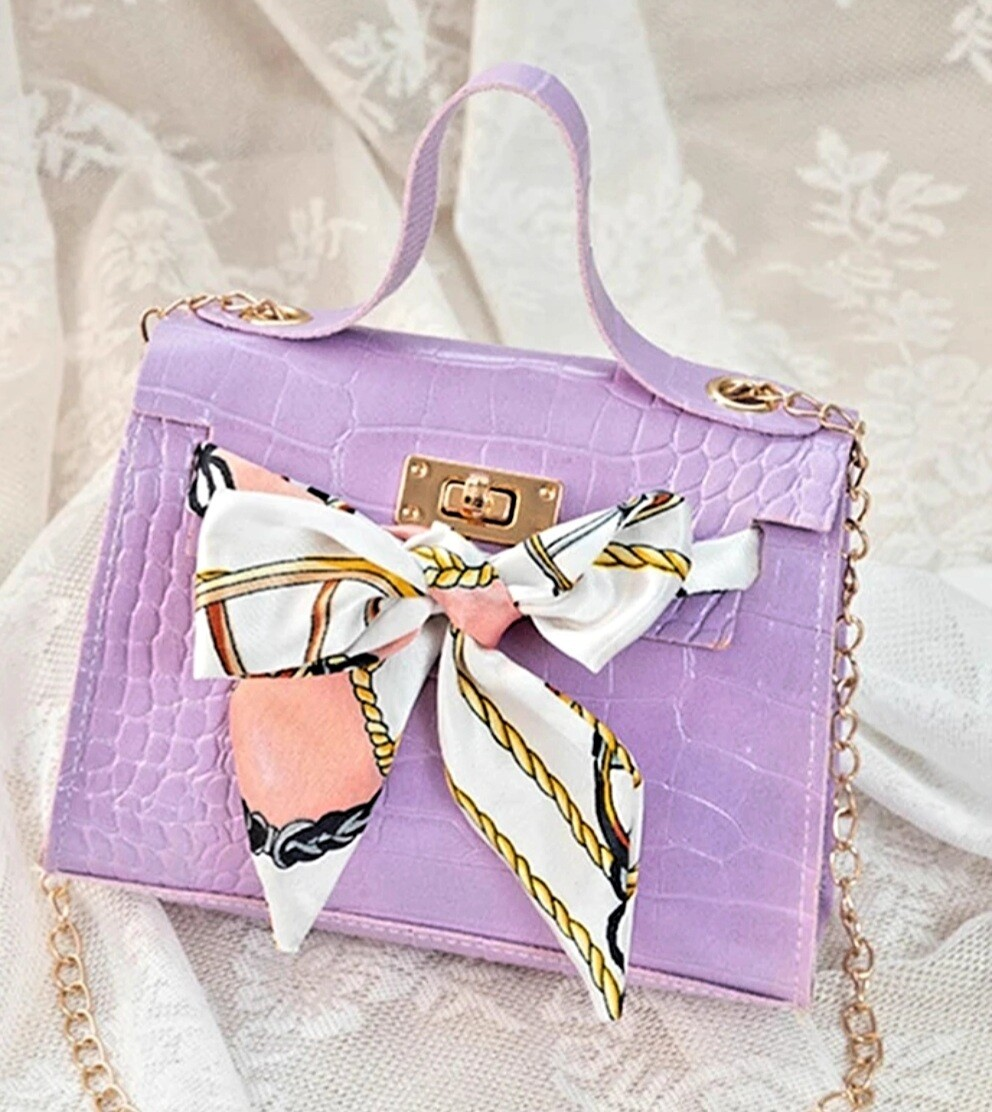Embossed Bow Bag