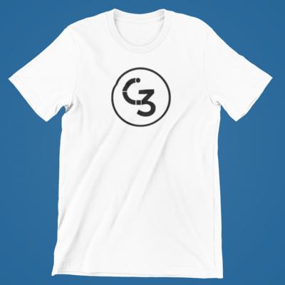 Plain White / Black Logo C3Tee