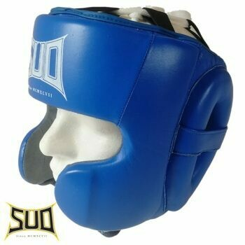 Čelada za boks z zaščito ličnic