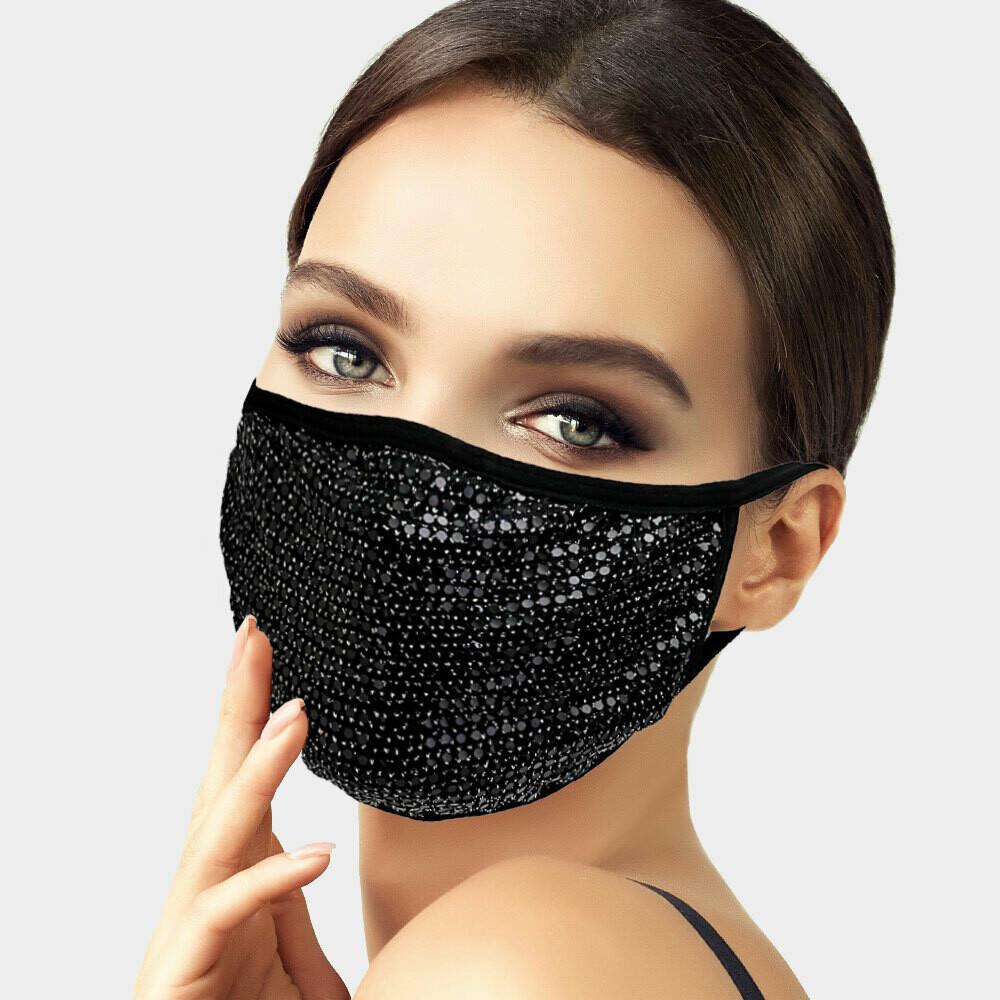 M126 Bling Polka Dot Fashion Mask