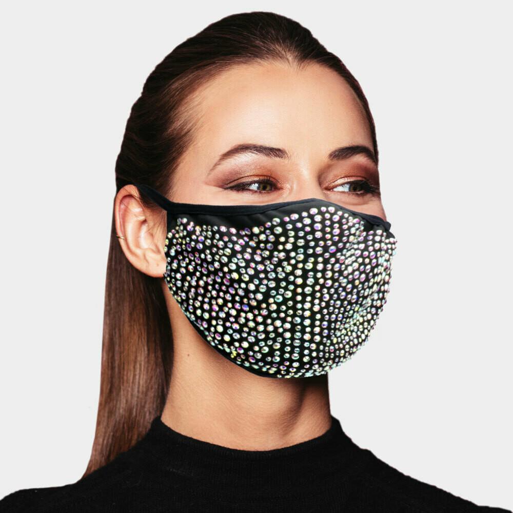 M123 Stone Studded Fashion Mask