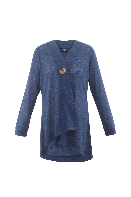 Ocean Blue Button Cardigan