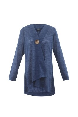 Ocean Blue Button Cardigan