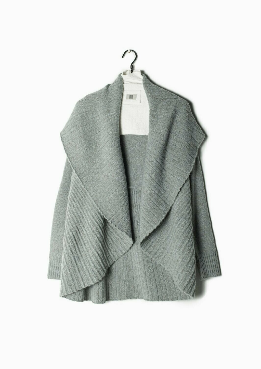 Heather Pleats Cardigan Shawl