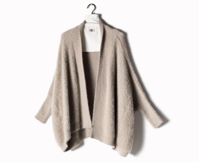 Super Soft Eyelash Cape Cardigan