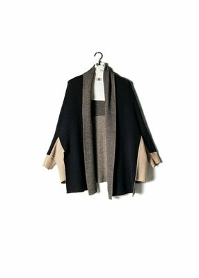 Two Tone Cape Cardigan