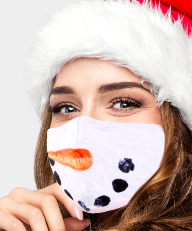 Snowman Lip Print Cotton Fashion Masks
