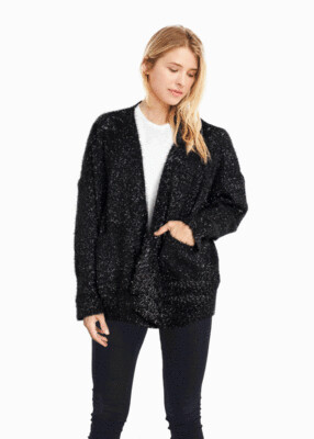Shiny Feather Cardigan